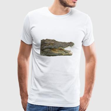 reptile crocodile alligator krokodil animal tier - Männer Premium T-Shirt