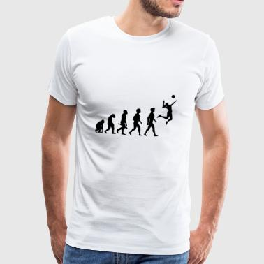 Volleybollspelare volleybollspelare Evolution - Premium-T-shirt herr