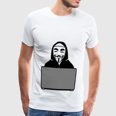 Anonymous Anonym Idee Geschenk geheim Gruppe PC IT - Herre premium T-shirt