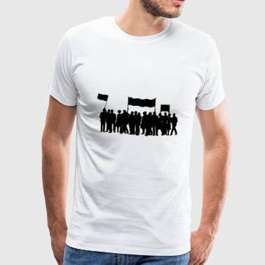 demonstration - Herre premium T-shirt