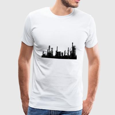 Oil refinery - Men's Premium T-Shirt