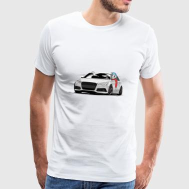 RS6 C7 A6 4G low style skulldriver tuning car - Männer Premium T-Shirt