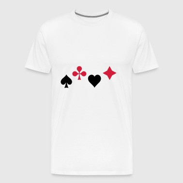 Spades Ass Heart Poker Blackjack Symbol Cards Casino - Men's Premium T-Shirt