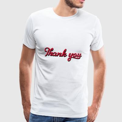 2541614 15521023 thank you - Männer Premium T-Shirt