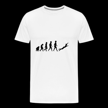 Diver diving diver diving underwater evolution - Men's Premium T-Shirt