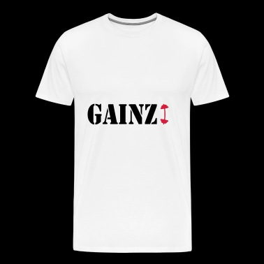 GAINZ DUMBBELL - Men's Premium T-Shirt