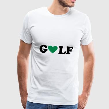 2541614 10906130 Golf - Herre premium T-shirt