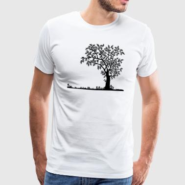 silhouette Nature - T-shirt Premium Homme