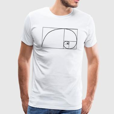 Fibonacci nature spiral - Men's Premium T-Shirt