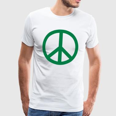 Peace Sign Filled Green - Männer Premium T-Shirt