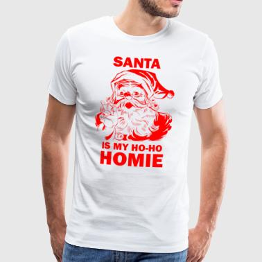 Retro Christmas Gifts. Santa is my Ho. - Men's Premium T-Shirt