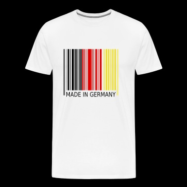 Stregkode Made in Germany - Herre premium T-shirt