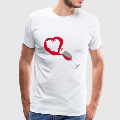 Red wine heart - Men's Premium T-Shirt