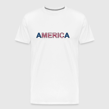 AMERICA - stars and stripes - Männer Premium T-Shirt