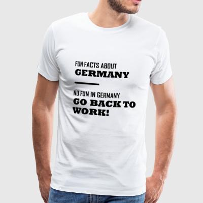 Fun Facts about Germany - No Fun in Germany - Männer Premium T-Shirt