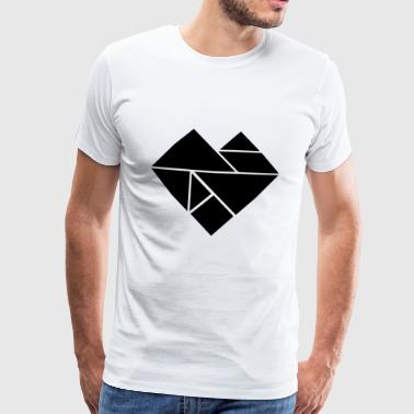 Heart tangram - Men's Premium T-Shirt