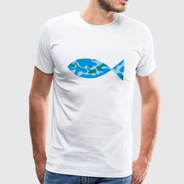 FISH - CAMO / CAMOUFLAGE - Men's Premium T-Shirt