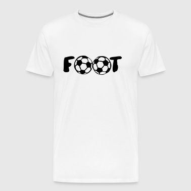 foot ballon mot football club - T-shirt Premium Homme
