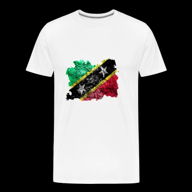 St. Kitts and Nevis vintage flag - Men's Premium T-Shirt