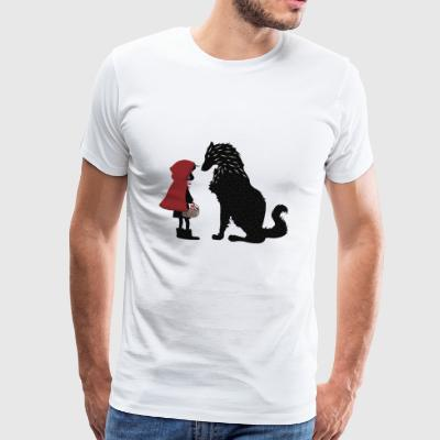 Little Red Riding Hood and the bad wolf - Men's Premium T-Shirt