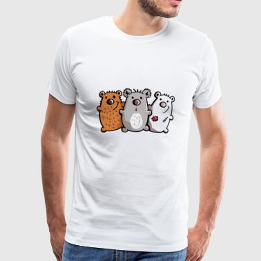 Trio Ours - Ours - Koala - Ours - Ours brun - T-shirt Premium Homme
