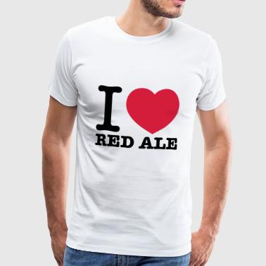 I love Red Ale - Männer Premium T-Shirt