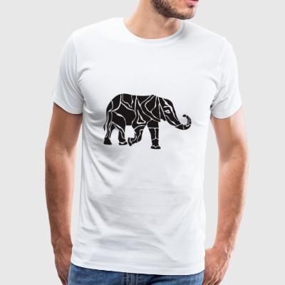 Elefant tattoo - Männer Premium T-Shirt