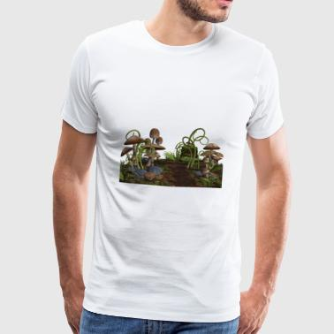 mushrooms mushrooms fungi veggie vegetables vegetables97 - Men's Premium T-Shirt