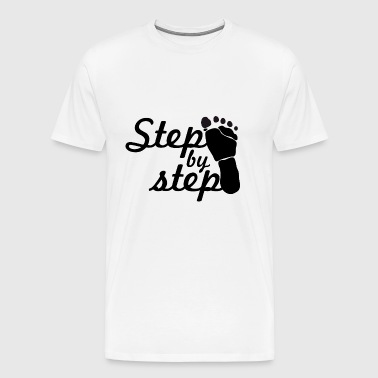 step by step - Men's Premium T-Shirt