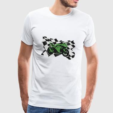 Motorcycle Racing Green Motorcycle Gift Idea - Mannen Premium T-shirt
