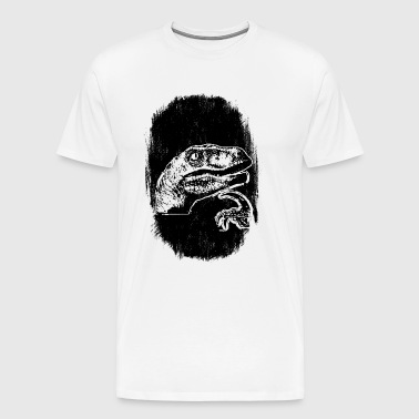 9GAG - THE 'IF' DINOSAUR - Men's Premium T-Shirt