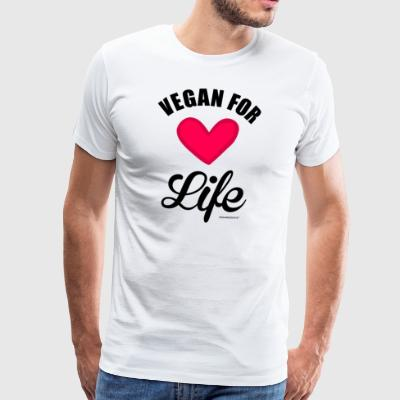 Vegan for Life - T-shirt Premium Homme