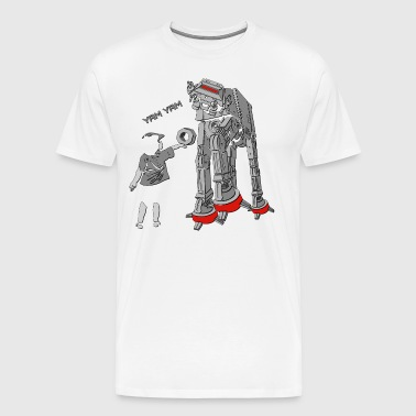 AT-AT is bekleed - The Empire is hongerig Yam - Mannen Premium T-shirt