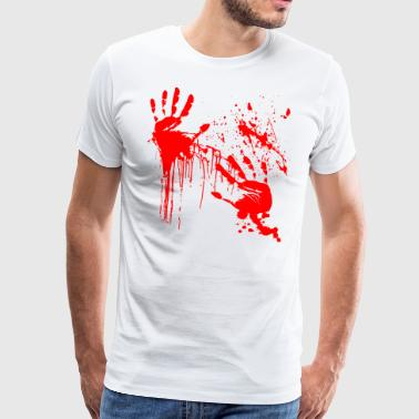 Barbouillé Thriller Horreur Sang Halloween Blood - T-shirt Premium Homme