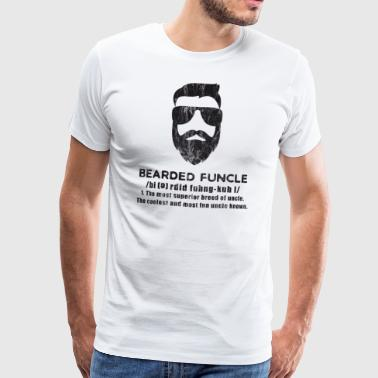 Bearded Uncle Definition Bart Beardler Gift - Men's Premium T-Shirt