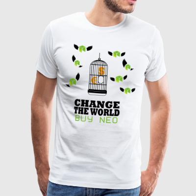 NEO Change the World - criptomoneda Bitcoin - Camiseta premium hombre