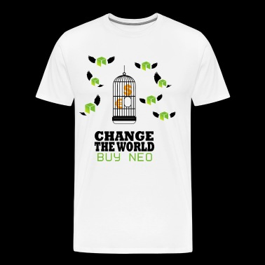 NEO Change the World - cryptogeld Bitcoin - Mannen Premium T-shirt