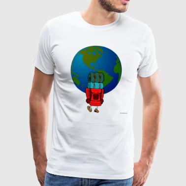 backpacker - Premium-T-shirt herr