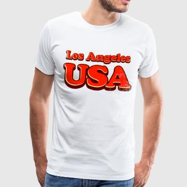 los angeles usa 3c - T-shirt Premium Homme