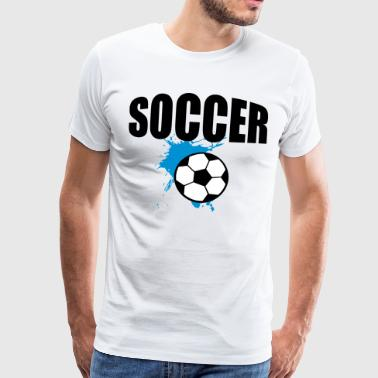 Soccer Player Soccer Team Splash 3c - Men's Premium T-Shirt
