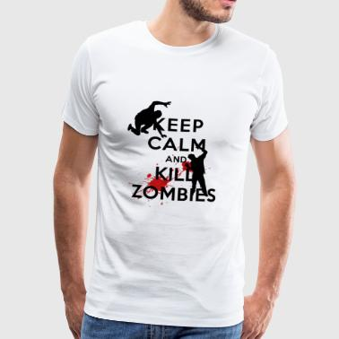 KEEP CALM ZOMBIE - Mannen Premium T-shirt