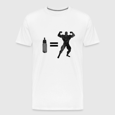 Bodybuilding workout muscles gift idea funny - Men's Premium T-Shirt