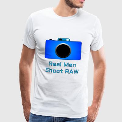 Real Men Shoot RAW - T-shirt Premium Homme