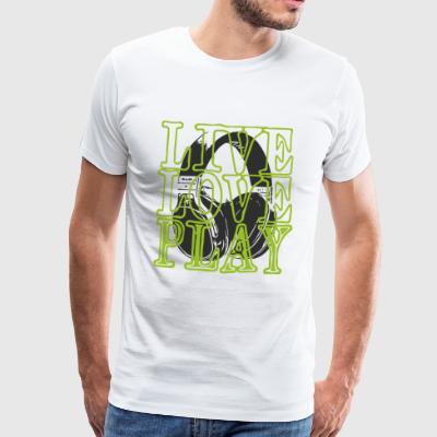Headset liveloveplay - Premium-T-shirt herr