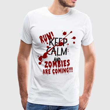 ZOMBIES RUN VIENNENT HALLOWEEN CADEAU Octobre - T-shirt Premium Homme