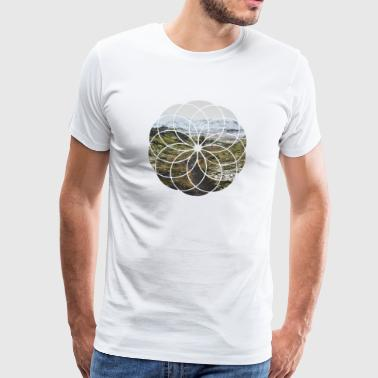 Geometric Shape - Landscape and Mountain - Men's Premium T-Shirt