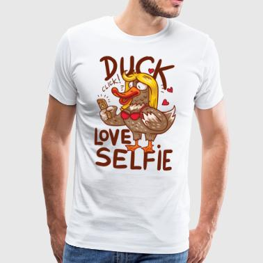 And med iPhone og bh - Herre premium T-shirt