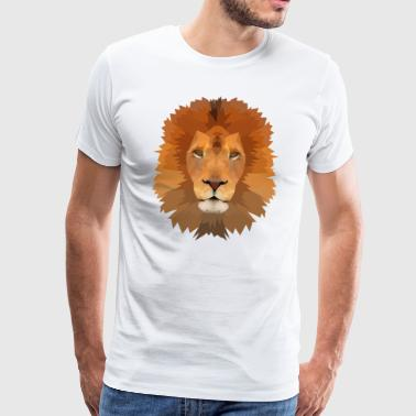 Lion - Poly Graphics - Premium T-skjorte for menn