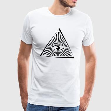 Seeing Eye Illuminati - Herre premium T-shirt