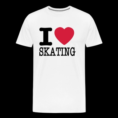 i love skating - Men's Premium T-Shirt